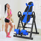 Foldable Gravity Inversion Table Chiropractic Back Exercise Stretcher Therapy US image