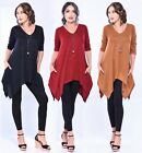 Boho Fashion Blouse Top - Stretch Jersey Pockets - All Sizes LotusTraders A311