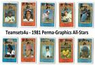 1981 Perma-Graphic All-Star Baseball Set ** Pick Your Team ** See Checklist on Ebay