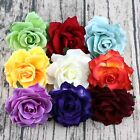 2/5Pcs Artificial Silk Fake Large Rose Flowers Floral Heads Wedding Home Decor