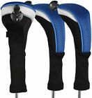 Golf Wood Covers Set Interchangeable No.1 3 5 Driver Fairway Long Head Covers UK