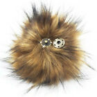 5inch Large Faux Raccoon Fur Pom Pom Ball Press Button For Knitting Hat Bag Diy