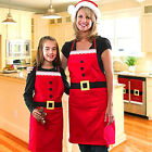 Christmas Santa Cooking Apron Family Apparel Cloth Protective Kitchen Necessity
