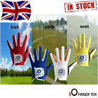 Golf Gloves Kids Left Hand Right Rain Grip Wet Hot Junior Child 2 Pack Lh Rh UK