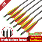 6 X 18 22 Inch Carbon Crossbow Bolts Archery Arrows Bow Hunting Outdoor US Stock