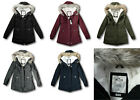 NWT Hollister by Abercrombie&Fitch Stretch Cozy Lined Parka Jacket Sherpa Fur