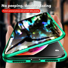 For iPhone X XS 7 8 360° Double Tempered Glass Anti-Spy Privacy Phone Case Cover $13.61 USD on eBay