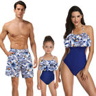 Couple Swimwear Children Swimsuit Men Beach Shorts Bathing Suit Womens Bikini