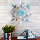 Nautical Beach Wooden Boat Ship Steering Wheel Home Wall Decoration Ornament Au