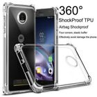 Clear Soft TPU Full Shockproof Case Cover FOr Moto E4/E5 Plus/Play G7 Power/Play