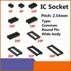 IC Socket Kit 8 values 6 40 Pin Adapter Solder Type 254mm DIP for IC Transistor