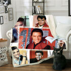 Elvis Presley 3D Print Sherpa Blanket Sofa Couch Quilt Cover Throw R35