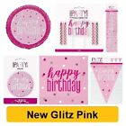 PINK GLITZ - NEW 2019 - ALL AGES - Birthday Party Tableware Supplies Decorations