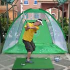 Golf Cage Detachable Swing Hitting Practice Net Trainer Indoor Outdoor