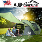Camping Tent Tarp+4 Person Dome Pop Up Tent Family Instant Waterproof Shelter