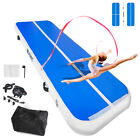 8in Airtrack Inflatable Air Track Floor Gymnastics Tumbling Mat Electric Pump image