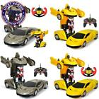 In Stock! Children Rc Toys Electric Remote Control Racing Car Transformer Robots