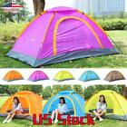 Folding Camping Outdoor Tent Fishing Awning Hiking Double Anti-UV With 2 Door US
