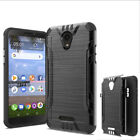 Phone Case For Tracfone Alcatel TCL A1 A501DL Brush Dual-Layered Cover