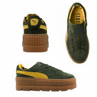 Puma Fenty By Rihanna Cleated Creeper Lace Up Suede Womens Trainers 366268 01 X