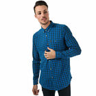 Mens Ucla Kevon Checked Shirt In Blue