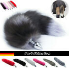 Red Fox Faux Schwanz Plug Lustige Anfänger Butt Stopper Anal Silikon Adult PLA