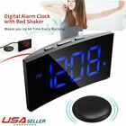 5 Loud Digital Alarm Clock w Super Bed Shaker Vibrating for Heavy Sleepers Deaf