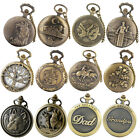 Antique Steampunk Pocket Watch Vintage Quartz Classic Pendant Retro Full Hunter image