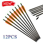 """16-22"""" Outdoors Carbon Crossbow Arrows With Half Moon Shape Nock (12 Pack), New"""