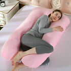 U-Shaped Full Body Pregnancy Pillow Maternity Support Side Sleeping Cushion CA