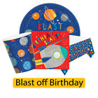 BLAST OFF BIRTHDAY Party Range Tableware Space Planets Kids Supplies Decorations
