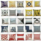Latest Throw Cotton Waist Geometric Pillow Decor Home Case Cover Sofa Cushion image