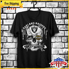 FREESHIP Jeep Skull Oakland Raiders Harley Davidson T shirt Black Men S-6XL USA image