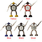 Table Gift Metal Kids Children Alarm Clock Practical Cartoon Light Robot Analog