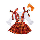 Toddler Kids Baby Girls Outfits Clothes T-shirt Tops Dress +Long Pants 3PCS Sets
