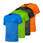 Men's T-shirt Printed Gym Sports Running Fitness Training Quick Dry Stretch Tops image