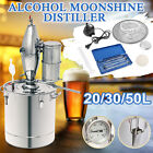 5/8/13Gal Water Alcohol Beer DIY Home Distiller Moonshine Still Boiler Stainless