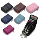 Women Small Leather  Wallet Credit Card Holder Zipper Purse Pocket Rfid Blocking image