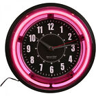 Sterling and Noble 11 Vibrant Pink Neon Wall Clock Pick, Blue