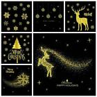 Home Shop Decoration Christmas Festive Wall Window Stickers Removable Art Decal