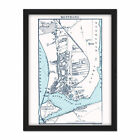 Map 1888 Bartholemew Montrose Town Scotland Plan Framed Wall Art Print 18X24 In