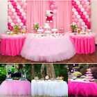 100x50cm TUTU Table Skirt For Wedding Birthday Baby Shower Tableware Decor Tulle