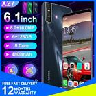 X27 6.3'' Smart Phone Mobile Octa Core 8+16mp Android 9.0 Face Hd Dual Sim Uk