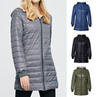 Ladies Slim Cutton Coat Casual Hooded Winter Warm Pure Mid High Jacket Outwear
