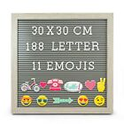 Knight MESSAGE BOARD, 188 WHITE LETTER, 11 EMOJIS, GREY RUSTIC FRAME