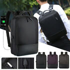Anti-theft Men's USB with Charger Port Backpack Laptop Notebook Travel Bag New