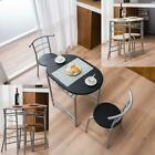 Durable Home Kitchen 5 Color Dining Set Table and 2 Chairs Breakfast Bistro Pub