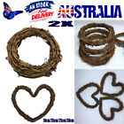 2christma Natural Dried Rattan Wreath Xmas Garland Home Door Wall Diy Decoration