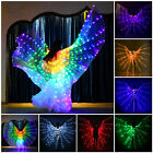 Adult or Child LED Isis Wings  2 Telescopic Sticks Belly Dance Light Costumes