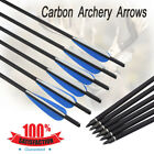 6pcs Archery Carbon Arrows Crossbow Bolts Changeable Screw Target Hunting Hunter